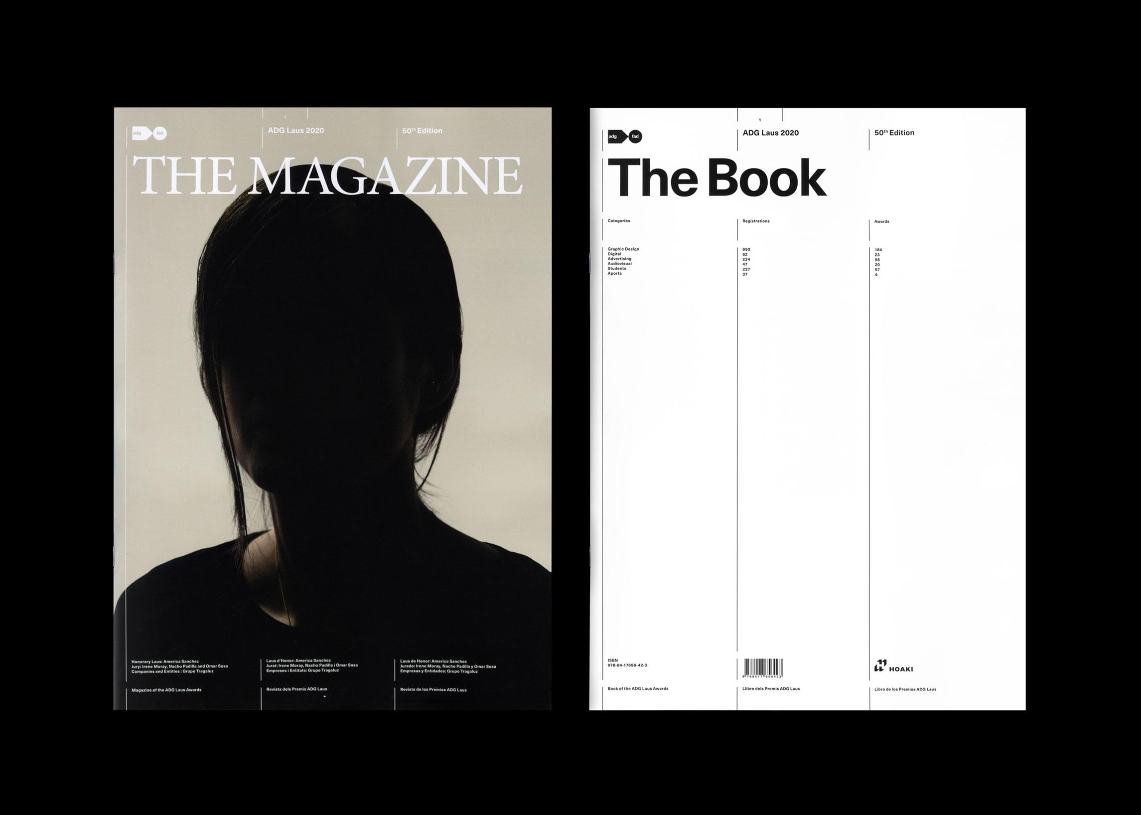 Portades de la revista - llibre Magabook dels Premis ADG Laus